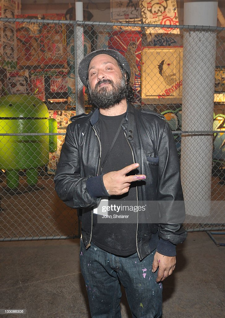 Google And T-Mobile Celebrate The Launch Of Google Music At Mr. Brainwash Studio In Los Angeles - Inside : News Photo