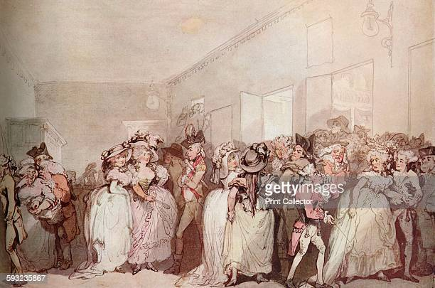 Artist Thomas Rowlandson Otto Limited 'Box Lobby Loungers of 1785' circa 1785 Painting held at the J Paul Getty MuseumLos Angeles From The...