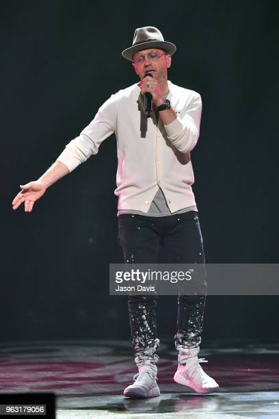 Artist TobyMac performs onstage during the 6th Annual KLOVE Fan Awards at The Grand Ole Opry on May 27 2018 in Nashville Tennessee