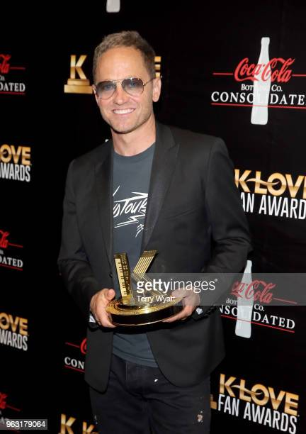 Artist TobyMac poses with his award backstage at the 6th Annual KLOVE Fan Awards at The Grand Ole Opry on May 27 2018 in Nashville Tennessee