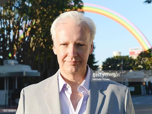 Artist Tony Tasset attends the OZ Tribute Iconic Rainbow Art Installation By American Multimedia Artist Tony Tasset On Sony Studio's Backlot at Sony...