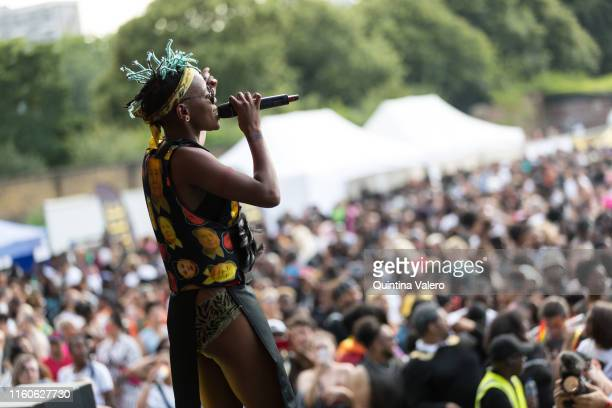 Artist Toya Delazy on stage at the UK Black Pride in Haggerston Park in London, United Kingdom, on July 7th, 2019.