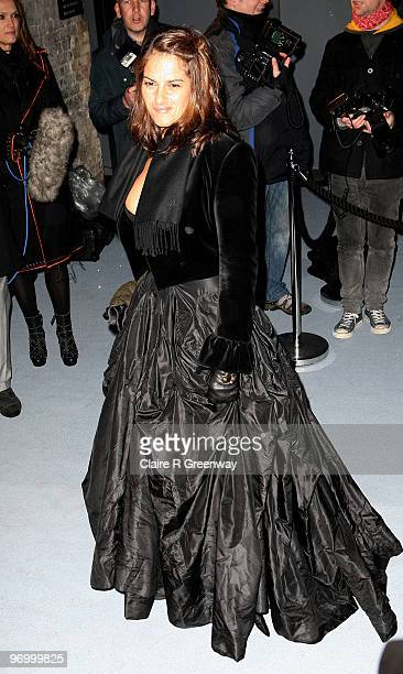 Artist Tracey Emin arrives at the Love Ball at The Roundhouse on February 23 2010 in London England