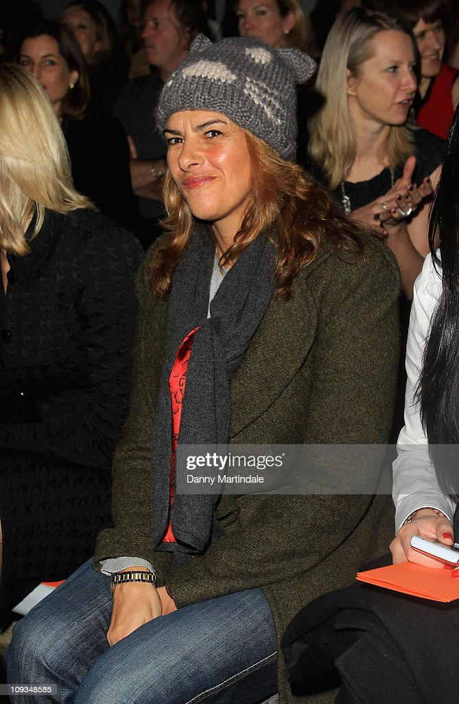 Artist Tracey Emin is seen on the front row at the Amanda Wakeley show at London Fashion Week Autumn/Winter 2011 on February 22, 2011 in London, England.