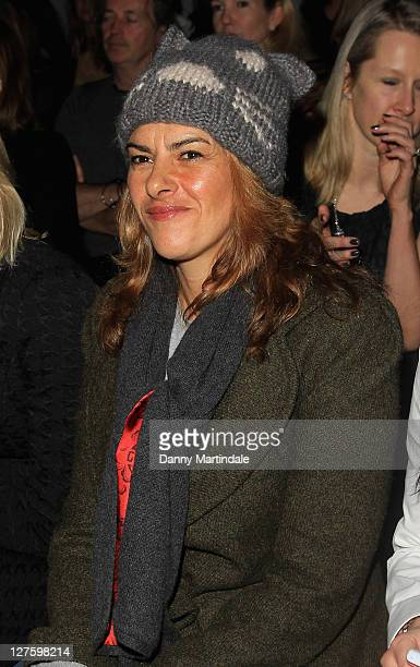 Artist Tracey Emin is seen on the front row at the Amanda Wakeley show at London Fashion Week Autumn/Winter 2011 on February 22 2011 in London England