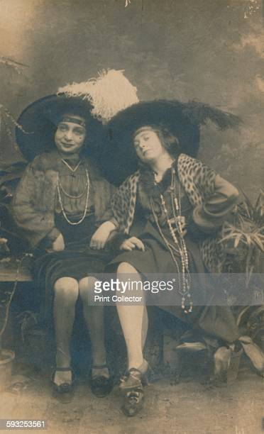 Artist Unknown A studio photograph of two ladies circa 1910