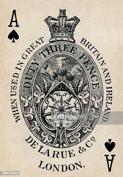 Artist Unknown Ace of Spades 1925 From De La Rue Co's Pneumatic Playing Cards [Thomas De La Rue Co London 1925]