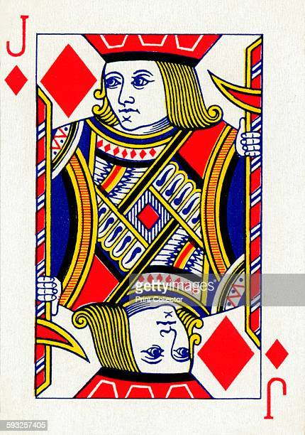 Artist Unknown Jack of Diamonds from a deck of Goodall Son Ltd playing cards circa 1940 [Goodall Son Ltd London circa 1940]