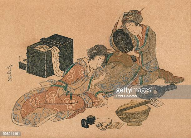 Artist Unknown 'NewYear Card or Surimono' circa 1890 After Katsushika Hokusai From The Studio Volume 57 [London Offices of the Studio London 191213]