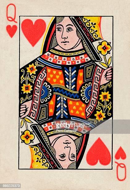 Artist Unknown Queen of Hearts 1925 From De La Rue Co's Pneumatic Playing Cards [Thomas De La Rue Co London 1925]