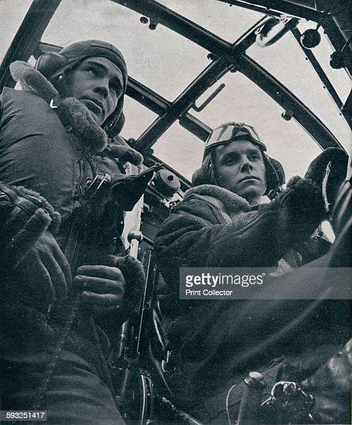 Artist Unknown RAF bomber pilot and second pilot 1941 Brave yet cautious cool yet daring From Bomber Command [His Majesty's Stationery Office London...