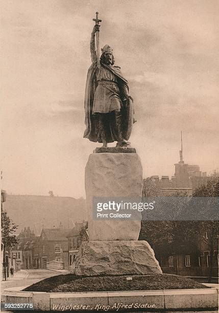 Artist Unknown Statue of King Alfred the Great Winchester Hampshire early 20th century The statue by Hamo Thornycroft was unveiled in 1899 to...