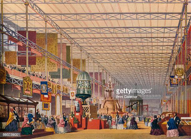 Artist Unknown 'The British Nave at the Great Exhibition of 1854 The Crystal Palace' circa 1851 Illustrations from Dickinson's Comprehensive Pictures...