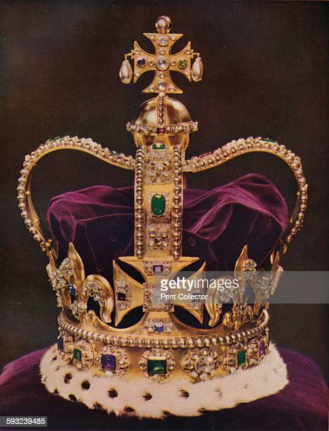 Artist Unknown 'The Crown of England St Edward's Crown' circa 1937 St Edward's Crown the official coronation crown of British monarchs and part of...