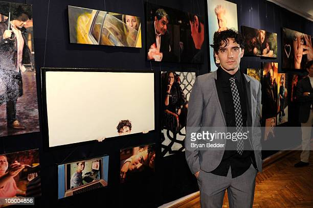 """Artist Vincent Fantauzzo attends his """"30 Portraits 30 Days, NYC"""" exhibition opening at The National Arts Club on October 7, 2010 in New York City."""