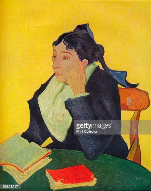 Artist Vincent van Gogh 'L'Arlesienne' circa 1888 A portrait of Madame JosephMichel Ginoux Painting held at The Metropolitan Museum of Art New York...