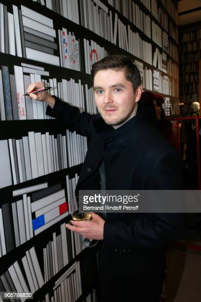 Artist who made the wall Jaro Varga attends the Manifesto Sonia Rykiel 5Oth Birthday Party at the Flagship Store Boulevard Saint Germain des Pres on...