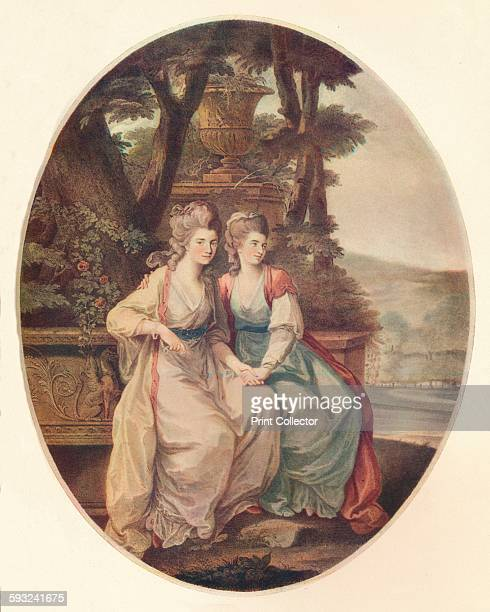 Artist William Dickinson, 'The Duchess of Devonshire and Lady Duncannon', 1782. An engraving of Georgiana Cavendish, Duchess of Devonshire and he...