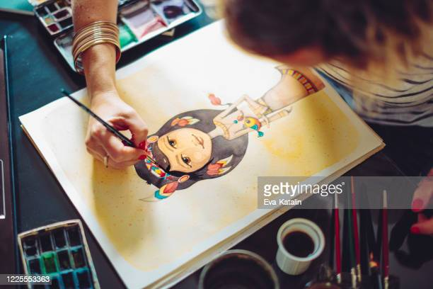 artist working at home - drawing art product stock pictures, royalty-free photos & images