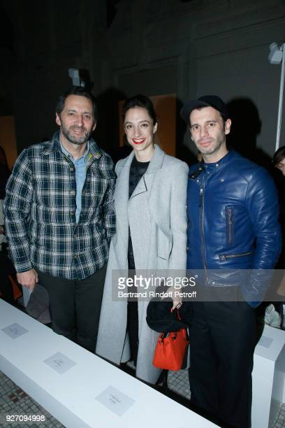Artist Xavier Veilhan Star Dancer Dorothee Gilbert and her husband James Bort attend the Poiret show as part of the Paris Fashion Week Womenswear...