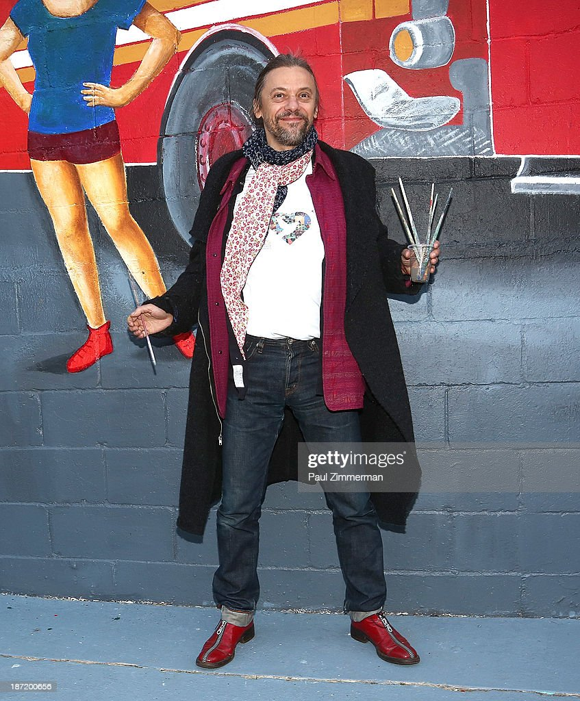 Artist Yanusz Gilewicz attends the CityArts & Disney 'Celebrating The Heros Of Our City' Mural Ribbon Cutting at Henry M. Jackson Playground on November 6, 2013 in New York City.