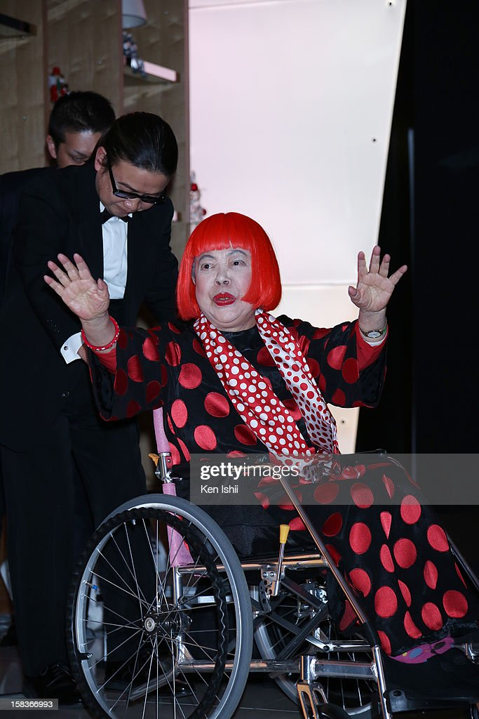 Artist Yayoi Kusama attends the 54th Fashion Editors Club of Japan Awards at Mercedes-Benz Connection on December 14, 2012 in Tokyo, Japan.