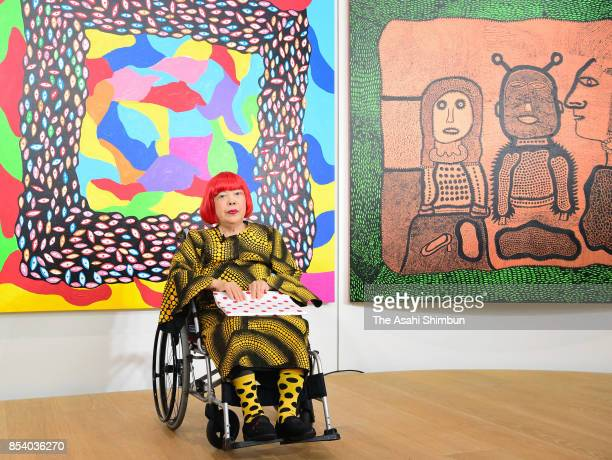 Artist Yayoi Kusama attends the opening ceremony of the Yayoi Kusama Museum on September 26 2017 in Tokyo Japan The museum opens on October 1