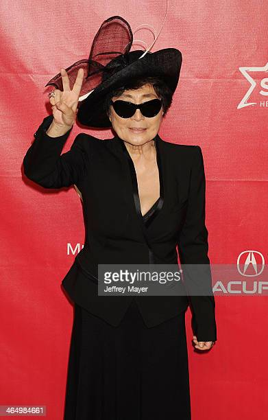 Artist Yoko Ono attends 2014 MusiCares Person Of The Year Honoring Carole King at Los Angeles Convention Center on January 24, 2014 in Los Angeles,...