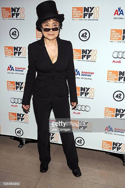 Artist Yoko Ono attends the LENNONYC premiere during the 48th New York Film Festival at Alice Tully Hall Lincoln Center on September 25 2010 in New...