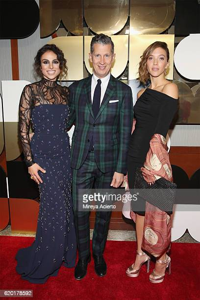 Artist Zoe Buckman W magazine editorinchief Stefano Tonchi and Shari Loeffler attend the 60th Anniversary Museum of Arts and Design Diamond Jubilee...
