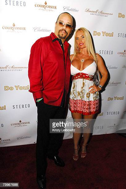 Artist/Actor Ice T and Coco attend hiphop mogul Russell Simmons party for his new book release called Do You at Stereo on April 24 2004 in New York...