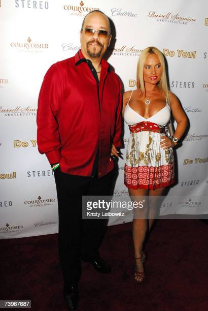 Artist/Actor Ice T and guest Coco attend hiphop mogul Russell Simmons party for his new book called Do You at Stereo on April 24 2004 in New York City