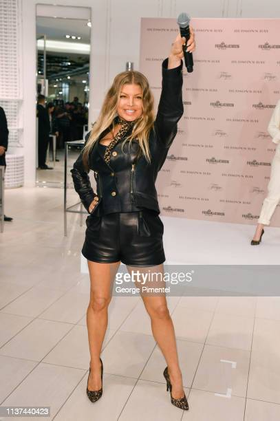 ArtistDesigner Fergie attends the Hudson's Bay celebration of Fergalicious by Fergie Spring 2019 Footwear Collections held at Hudson's Bay Queen...