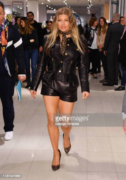 Artist-Designer Fergie attends the Hudson's Bay celebration of Fergalicious by Fergie Spring 2019 Footwear Collections held at Hudson's Bay Queen...