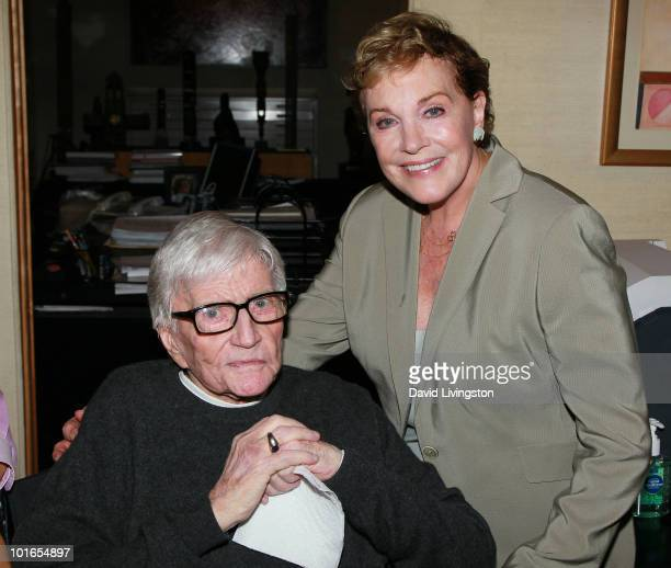 Artist/director Blake Edwards and wife actress Julie Andrews attend Edwards' art exhibit preview at Leslie Sacks Fine Art on June 5 2010 in Brentwood...
