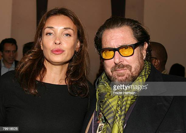 Artist/Director Julian Schnabel And wife Olatz Schnabel pose at the Gagosian Gallery opening reception for his exhibition of recent paintings on...