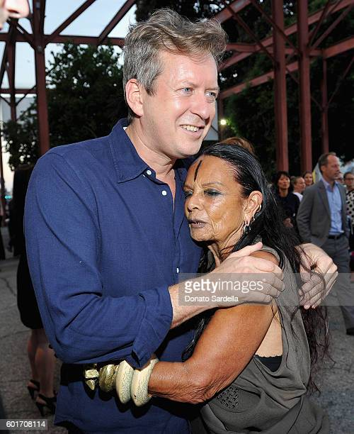 Artist/filmmaker Doug Aitken and Michelle Lamy attend MOCA's Leadership Circle And Members' Opening For 'Doug Aitken Electric Earth' at The Geffen...