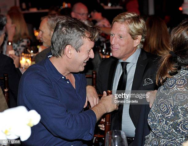 Artist/filmmaker Doug Aitken and Scott Barber attend MOCA's Leadership Circle And Members' Opening For 'Doug Aitken Electric Earth' at The Geffen...