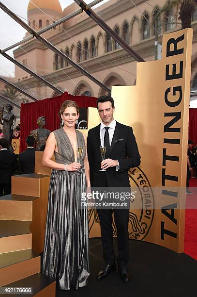 Artistic director and ambassador of Taittinger Globaland Vitalie Taittinger and actor Reid Scott attend TNT's 21st Annual Screen Actors Guild Awards...