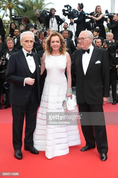 Artistic Director and CoPresident of Chopard Caroline Scheufele opera singer Jose Carreras and her father KarlFriedrich Scheufele attend the...