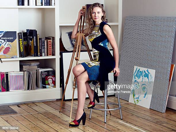 Artistic director and curator Victoria Golembiovskaya is photographed for the Luxup magazine on July 12 2012 in London England