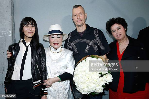 Artistic Director and Stylist of Lanvin Women, Bouchra Jarrar, Owner of Lanvin Shaw Lan Wang and Stylist Lucas Ossendrijver and General Director of...