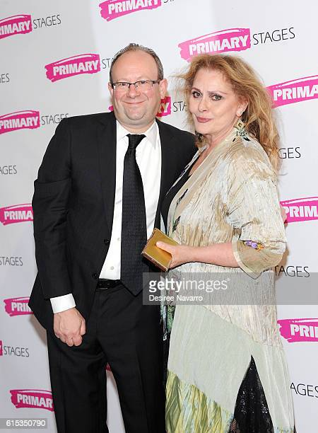 Artistic director Andrew Leynse and actress Elizabeth Ashley attend Primary Stages 2016 Gala at 538 Park Avenue on October 17 2016 in New York City