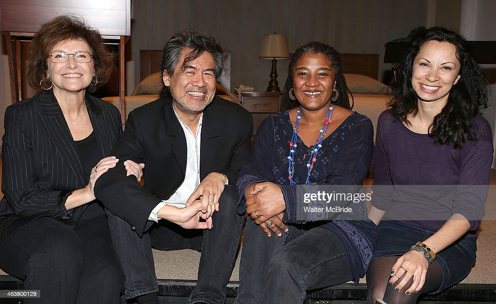 Artistic Director Angelina Fiordellisi, Playright David Henry Hwang, Playright Lynn Nottage and Producing Artistic Director Stephanie Ybarra attend Cherry Lane Theatre's 'Mentor Project 2014' 16th anniversary celebration at Cherry Lane Theatre on December 4, 2013 in New York City.
