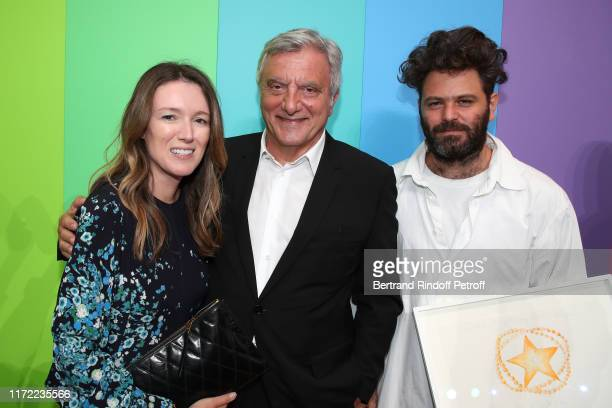 Artistic director at Givenchy Clare Waight Keller, Chief Executive Officer of LVMH Fashion Group Sidney Toledano and Karl Lagerfeld Prize Hed Mayner...