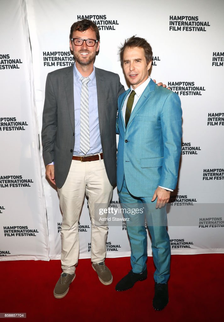 Artistic Director at Hamptons International Film Festival David Nugent and actor Sam Rockwell attend the photo call for 'Three Billboards' during Hamptons International Film Festival 2017 - Day Three on October 7, 2017 in East Hampton, New York.