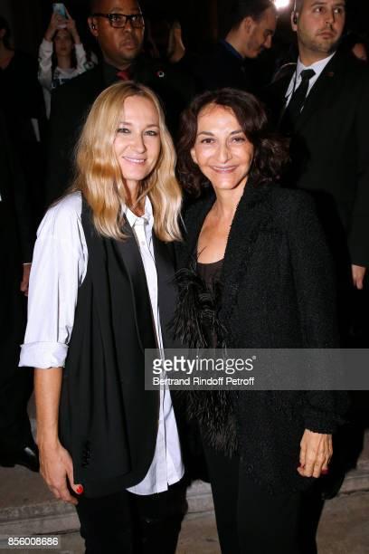 Artistic Director at Sonia Rykiel Julie de Libran and Nathalie Rykiel pose after the Sonia Rykiel show as part of the Paris Fashion Week Womenswear...