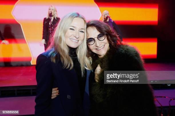 Artistic Director at Sonia Rykiel Julie de Libran and Nathalie Rykiel attend the Sonia Rykiel show as part of the Paris Fashion Week Womenswear...