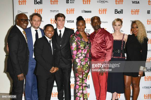 Artistic Director Cameron Bailey Jason Clarke Jason Mitchell Garrett Hedlund Dee Rees Rob Morgan Carey Mulligan and Mary J Blige attend the...