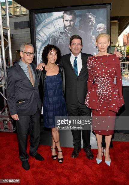 Artistic director David Ansen, LAFF director Stephanie Allain, Film Independent co-president Josh Welsh and actress Tilda Swinton attend the opening...
